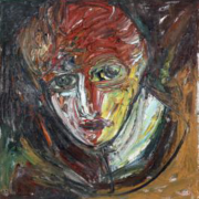 JEUNE FILLE DE STRASBOURG - 91x88 - huile sur toile - 1990 - 6 500 €