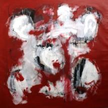 ROUGE - 140x140 - acrylique sur toile - 2011 - 4 400 €