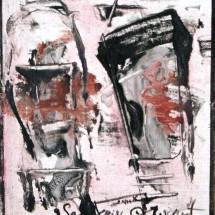 DEUX PRÉSENCES DE MYSTÈRE SANKI - 21x19 - acrylique sur toile - 1993 - 400 €